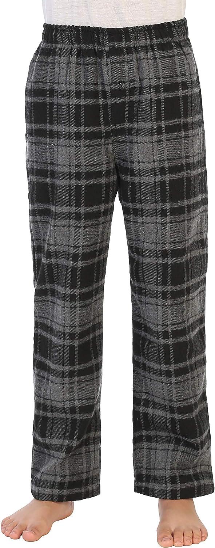 Gioberti Boys Yarn Dye Brushed Flannel Lounge & Pajama Pants with Elastic Waist