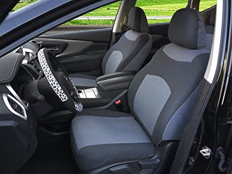 116002 Grey Fabric 2 Front Car Seat Covers Compatible To Ford Focus ST