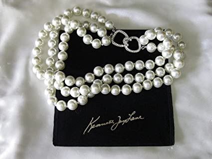 e215997dd5185 Amazon.com: Kenneth Jay Lane Jewelry Barbara Bush 3 Strand Simulated ...
