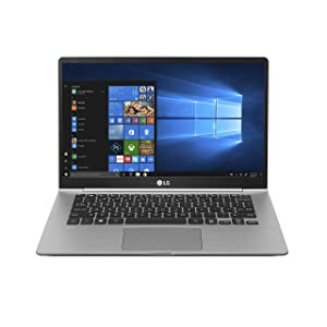 "LG gram Laptop - 14"" Full HD Display, Intel 8th Gen Core i7, 16GB RAM, 256GB SSD, 19.5 Hour Battery Life, Thunderbolt 3- 14Z990-R.AAS7U1 (2019), Dark Silver"