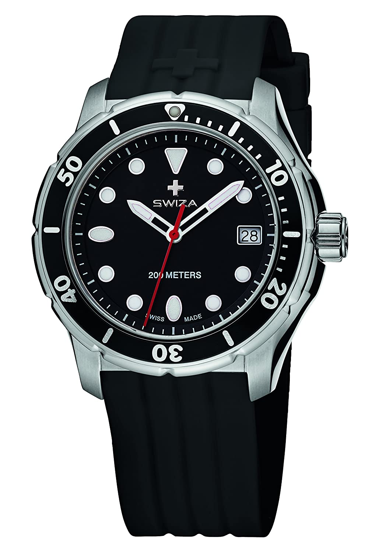 SWIZA Tetis Silikon-Armband Luxus Uhr - Schwarz - One Size