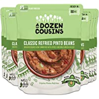 A Dozen Cousins Meals Refried Beans - Ready to Eat, Vegan and Non-GMO & Seasoned - Made with Avocado Oil (Refried Pinto…