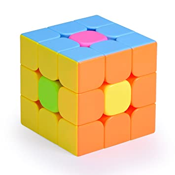 Olicity Speed Cube Puzzle Magic 3x3x3 Smooth Stickerless With Solution Guide Full