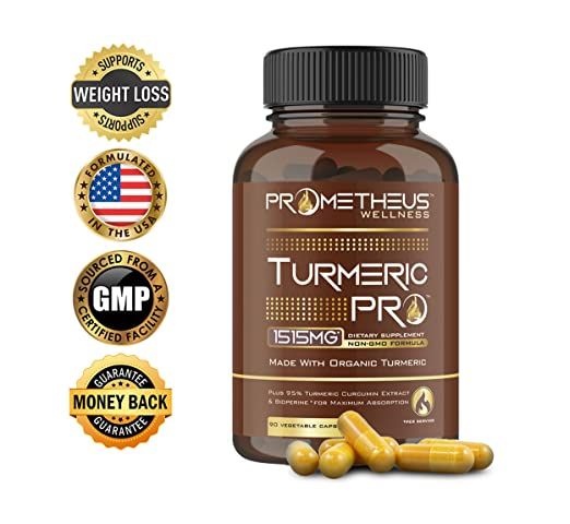 Turmeric PRO Max Strength 95% Curcuminoids Organic Turmeric Curcumin with BioPerine 90 Veggie Caps Joint Pain Relief Anti-Inflammatory Antioxidant Anti-Aging Black Pepper Extract for Best Absorption.
