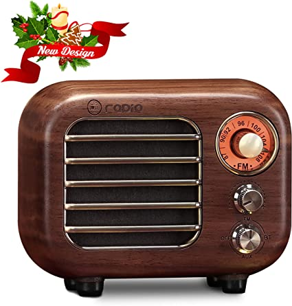 Retro Speaker Radios Wireless Bluetooth Speaker Wood FM//AM Radio Home Office