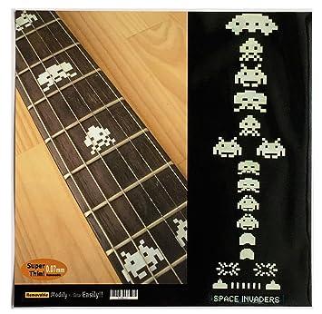 Marcadores de diapasón incrustaciones adhesivo adhesivos para guitarra Bass - Space Invaders (WS): Amazon.es: Instrumentos musicales