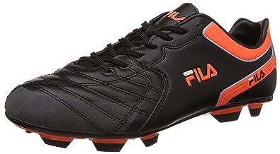 565546b848e0 ... Fila Mens Macario Black and Orange Football Boots -10 UKIndia (44 EU ...