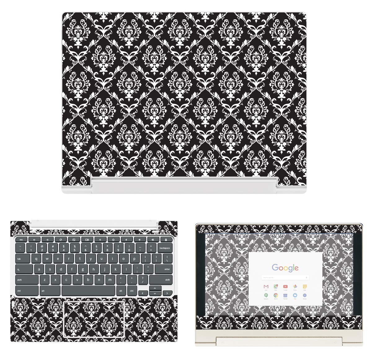 decalrus - Protective Decal Damask Skin Sticker for Lenovo ChromeBook C330 (11.6'' Screen) case Cover wrap LEchrmbookC330-80 by decalrus (Image #1)