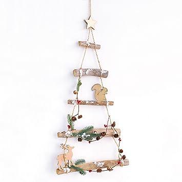 Weihnachtsbaum Ast.Amazon De Woodland Ast Birke Holz Aufhängen Weihnachtsbaum Leiter