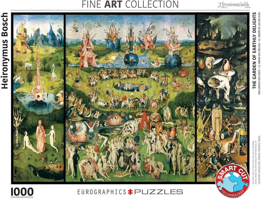 Eurographics The Garden Of Earthly Delights By Heironymus Bosch 1000 Piece Puzzle Toys Games