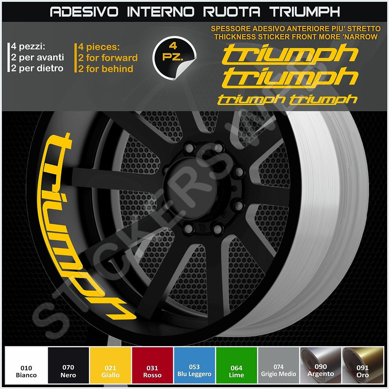 Triumph Daytona Street Triple Decal Stickers Internal Stripes for Wheel Rims, Mod: 2, Code:0292 010 Bianco Pimastickerslab