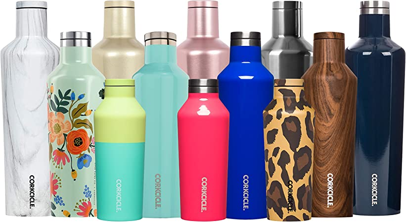 SALE Monogrammed 20 oz Rose Metallic Hybrid Canteen by Corkcicle  Personalized Steel /& Glass Water Bottle  Hypoallergenic Canteen Bottle