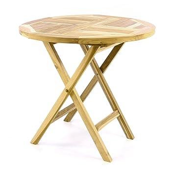 Amazon De Divero Gartentisch Balkontisch Tisch Esstisch Holz Teak
