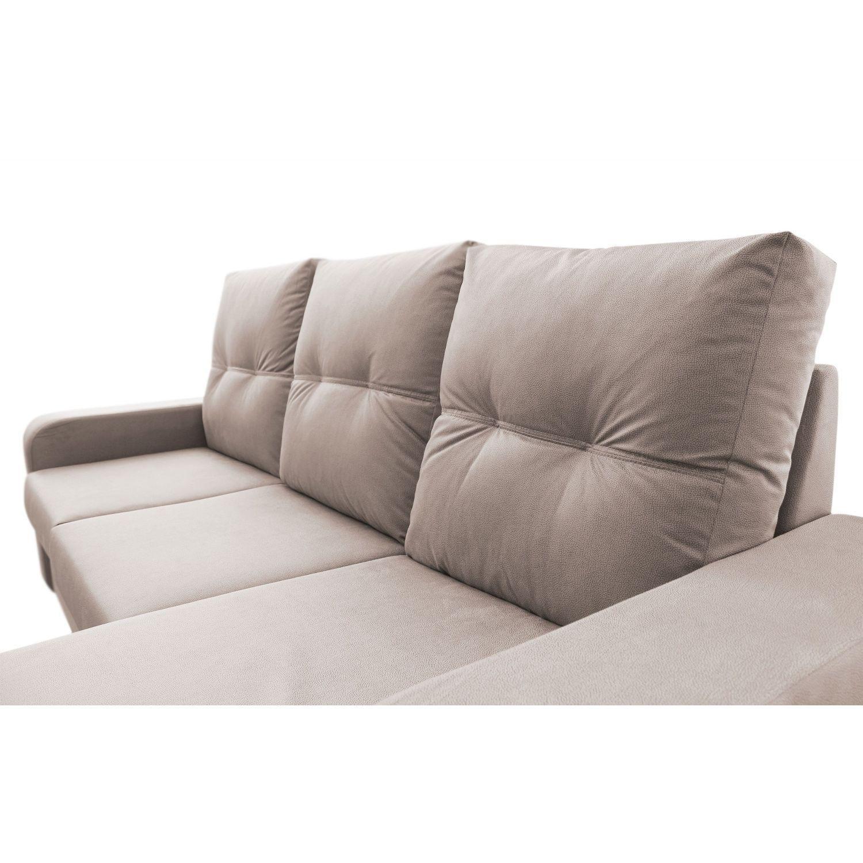 Muebles Baratos Sofa con Chaise Longue 3 plazas color beige ...
