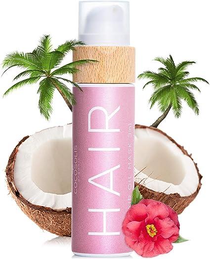COCOSOLIS Aceite orgánico para el cabello 3 en 1 con aceites esenciales- Reparador pello, mascarilla pello y protector solar cabello - Para cabello, ...