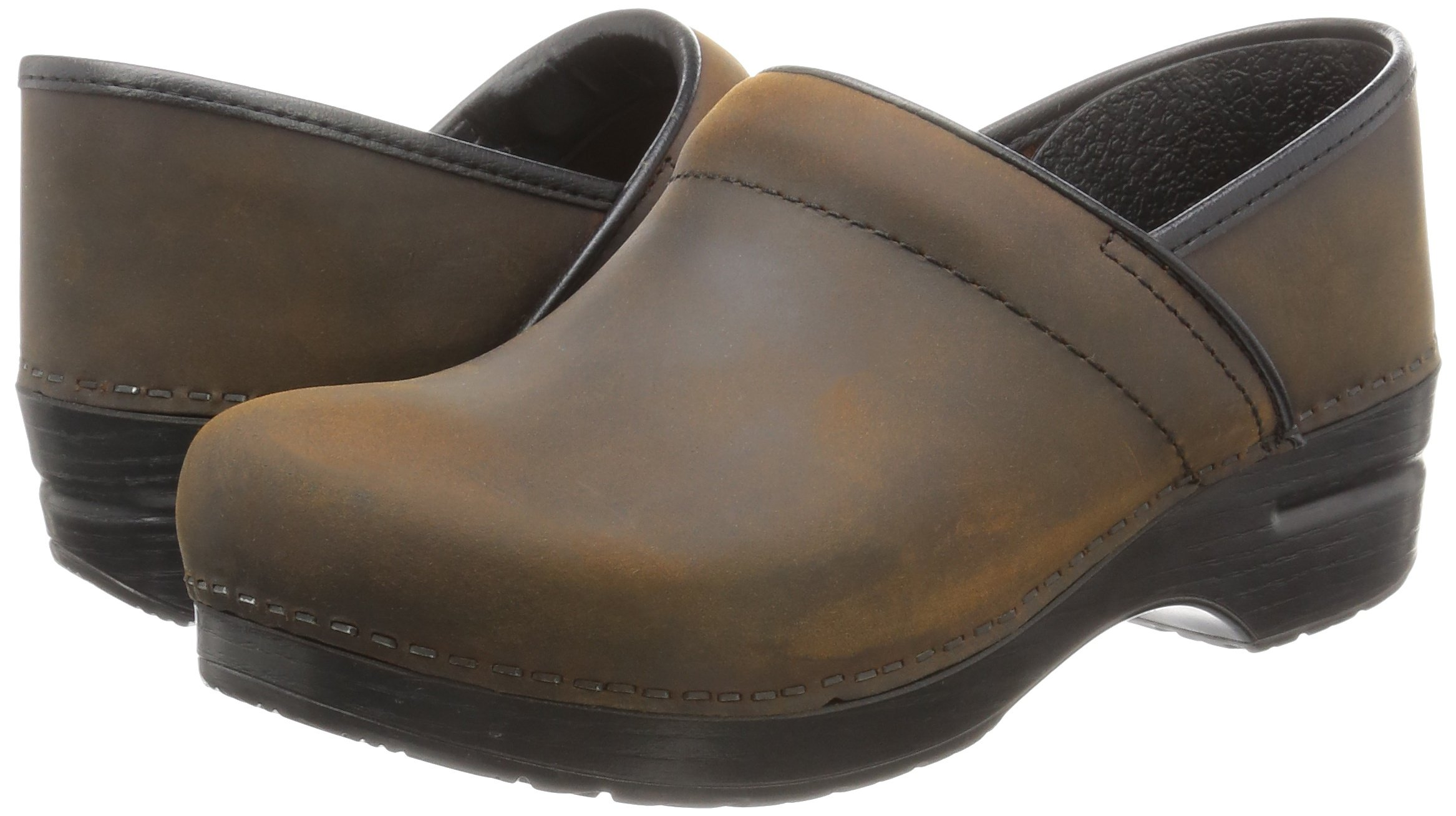Dansko Women's Professional Oiled Leather Clog,Antique Brown/Black,35 EU / 4.5-5 B(M) US by Dansko (Image #6)