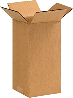 """product image for Partners Brand P449 Corrugated Boxes, 4""""L x 4""""W x 9""""H, Kraft (Pack of 25)"""