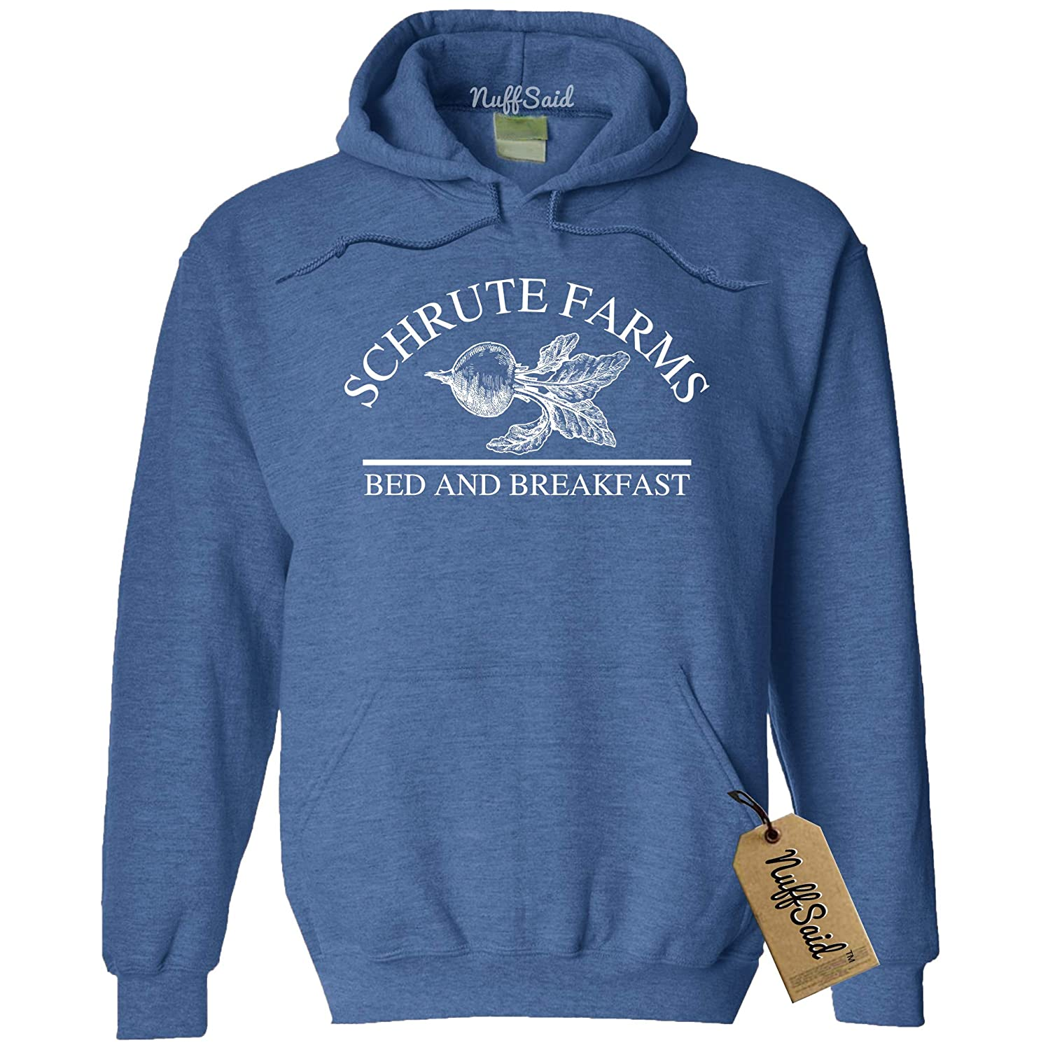 Unisex Hoodie NuffSaid Schrute Farms Beets Bed and Breakfast Hooded Sweatshirt Sweater Pullover
