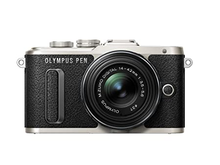 Olympus Pen E-PL8 Black Body with 14-42mm IIR Black Lens Digital Cameras at amazon