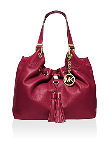 Michael Kors Camden Large Drawstring Shoulder Tote Cherry/Gold