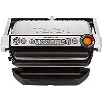 Tefal GC702D Optigrill, 2000 W, (automatische Anzeige des Garzustandes, 6 voreingestellte Grillprogramme, Edelstahl) schwarz/silber
