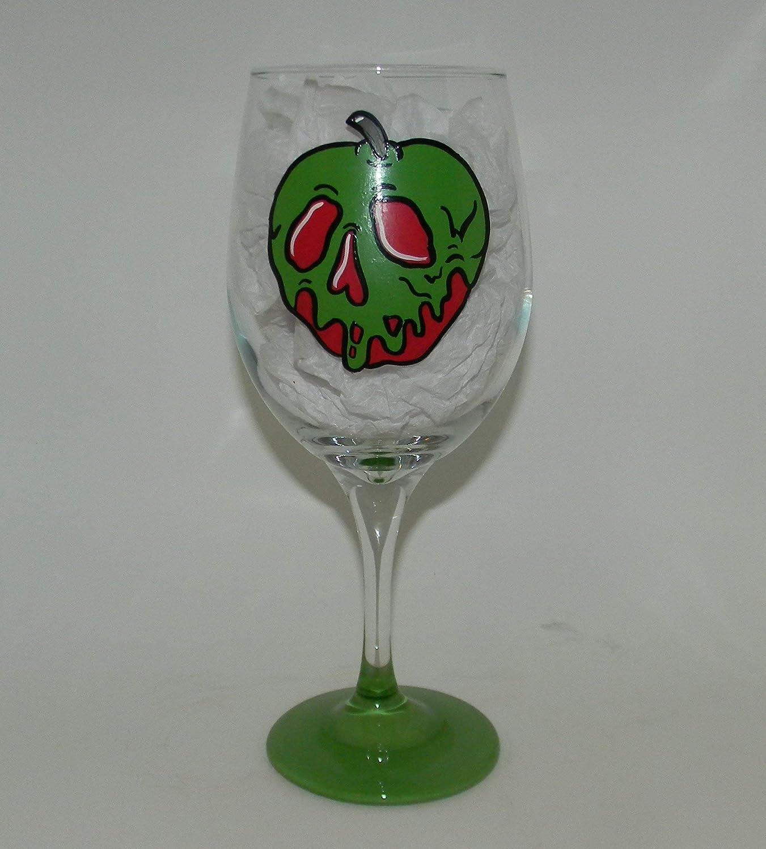 Poison apple wine glass