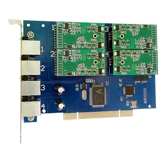 TDM410P-0 FXO+4 FXS,Tarjeta PCI de 4 puertos analogicos ...