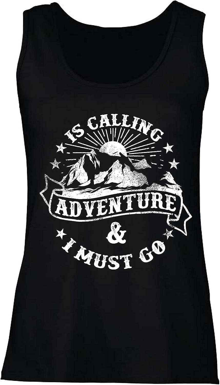 lepni.me Camisetas sin Mangas para Mujer Is Calling Adventure - Ropa de Vacaciones para Vacaciones en Familia, Senderismo en la montaña: Amazon.es: Ropa y accesorios
