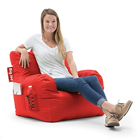 Big Joe Dorm Bean Bag Chair Flaming Red