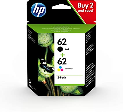 Oferta amazon: HP 62 N9J71AE, Negro y Tricolor, Cartuchos de Tinta Originales, Pack de 2, compatible con impresoras de inyección de tinta HP ENVY 5540, 5640, 7640; OfficeJet 5740