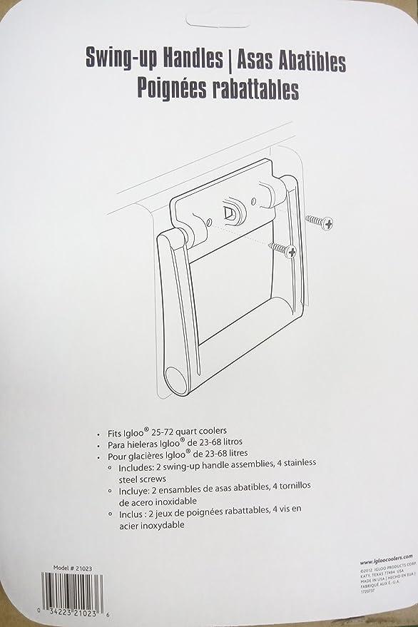 Amazon Igloo 21023 25 72 Quart Cooler Handles White