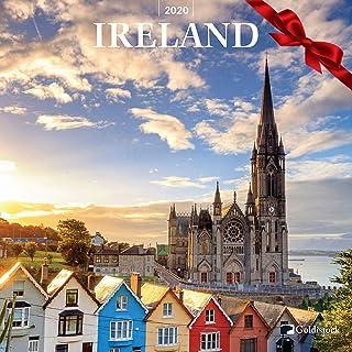 "Goldistock 2020 Large Wall Calendar -""Ireland"" - 12"" x 24"" (Open) - Thick & Sturdy Paper - Beautiful Images of Historic Ireland"
