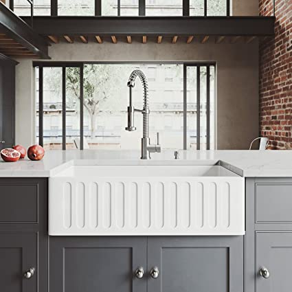 vigo farmhouse sink. VIGO VGRA3318CS 33\u0026quot; X 18\u0026quot; 9 5/8 Undermount Farmhouse Kitchen Sink Vigo O
