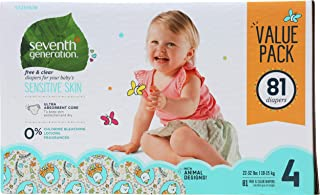 product image for SEVENTH GENERATION Diapers Size 4 Value Pack, 81 CT
