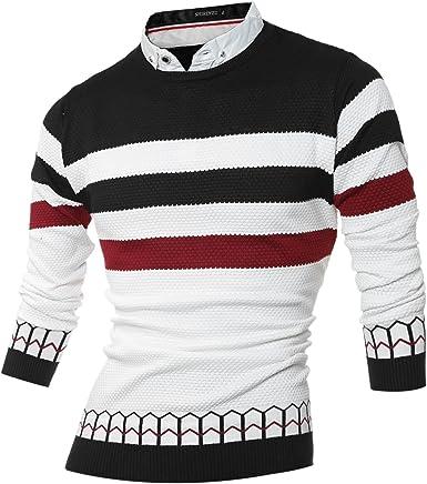 LETSQK Mens Fashion Sweatshirt Long Sleeve Pullover Round Collar Hoodie
