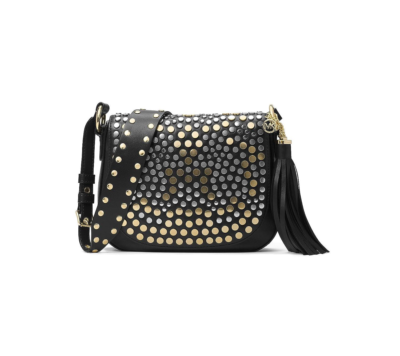 MICHAEL Michael Kors Studded Brooklyn Medium Saddle Bag: Handbags:  Amazon.com