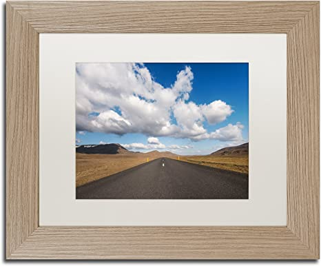 Amazon Com Never Ending Land By Philippe Sainte Laudy White Matte Birch Frame 11x14 Inch Home Kitchen