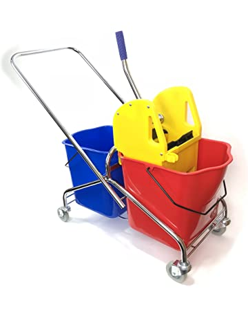 Aviva Star Cleaning Trolley 1 x 25 Litre Bucket Yellow Cleaning Trolley High Quality Workmanship Green Includes 10 Litre Bucket Cleaning Trolley Available in 4 Colours Red Blue
