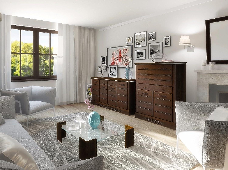 Sympathisch Hochwertige Wohnwand Dekoration Von Schrankwand Wohnzimmer Möbel Lagos Ii Venge Led