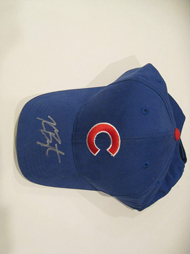 7563b4065 Kris Bryant Autographeed/Signed Chicago Cubs Hat COA at Amazon's Sports  Collectibles Store