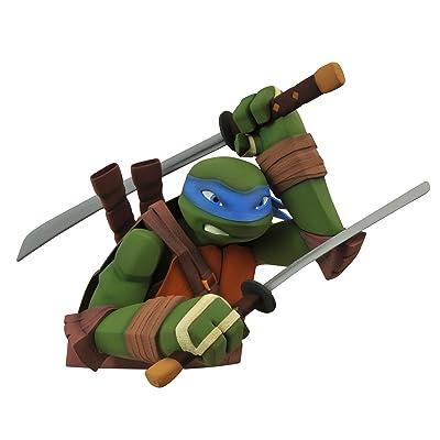 Diamond Select Toys Teenage Mutant Ninja Turtles: Leonardo Bust Bank: Toys & Games
