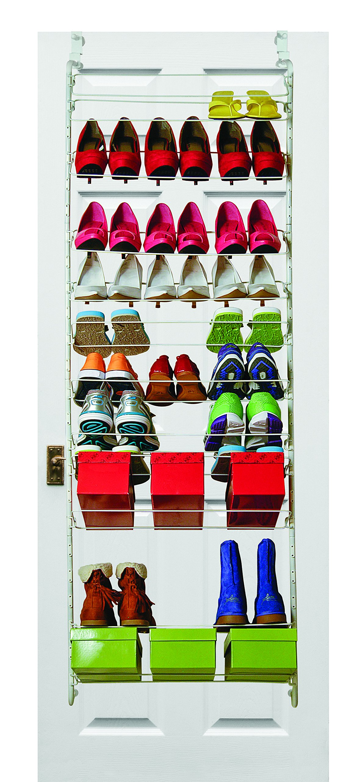 MAX SPACE Customizable Over Door Shoe Rack w/Screw Tight Over Door Hooks - 36 pr - Version 2.0 - August 2016 by MAX SPACE