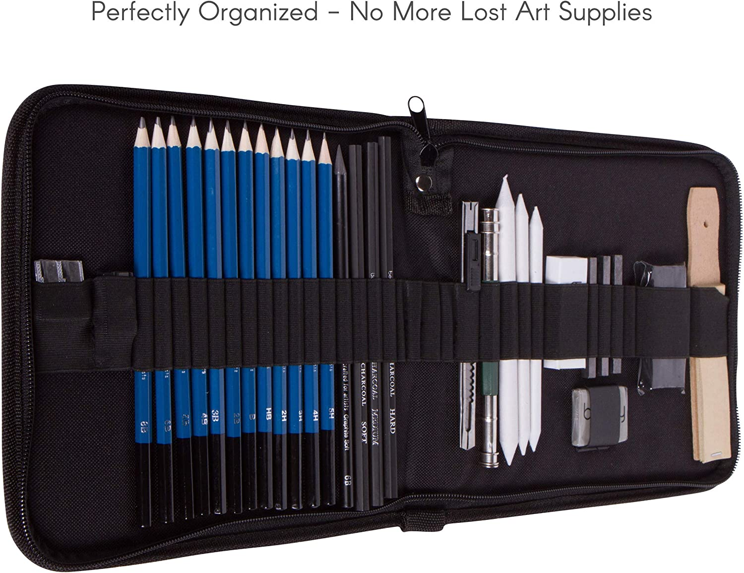 Bellofy Professional Drawing Kit Artist Drawing Supplies Kit | 33-piece Sketch Kit, Erasers, Kit Bag, Free Sketchpad | Perfect Graphite Drawing Pencil Set for Sketching | Art Pencils For Shading: Arts, Crafts & Sewing
