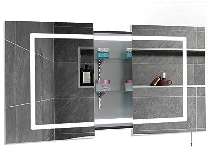 super popular fe862 c4036 Mirror Cabinet Illuminated Shaving Mirror for Bathroom Sliding Door - Wall  Mount - 1 Year Warranty - 900 x 600mm