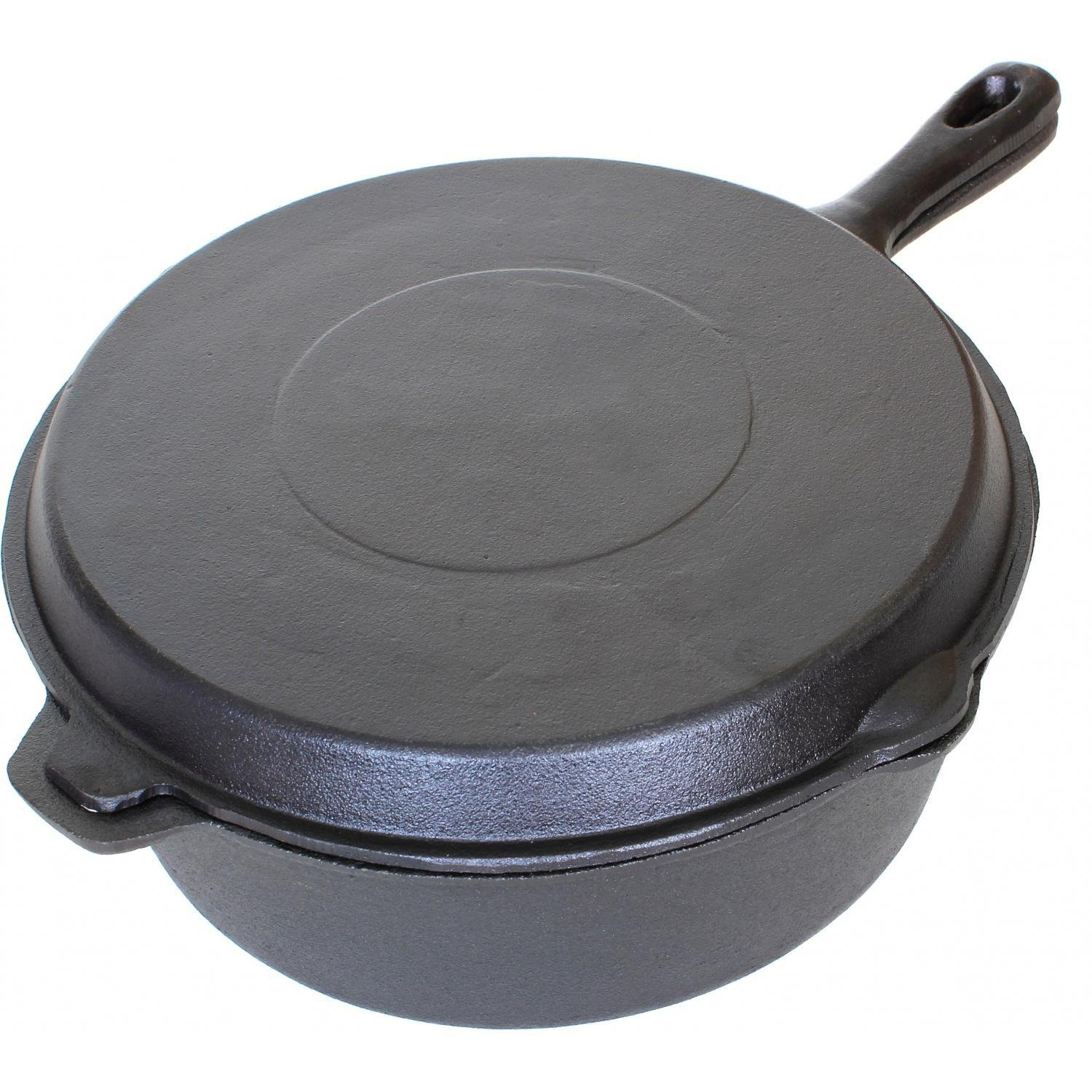 Cajun Cookware 6-quart Seasoned Cast Iron Combo Cooker - Gl10495ds