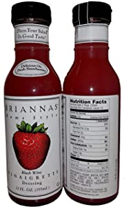 Briannas Home Style Dressings Blush Wine Vinaigrette -- 12 fl oz, Pack of 2