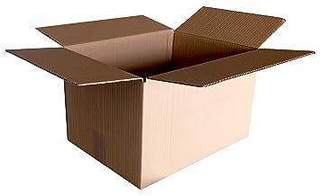 CAJAS PARA MUDANZAS CARTÓN SENCILLO 4 SOLAPAS 400x300x250. LOTE 10 UNIDADES: Amazon.es: Bricolaje y herramientas