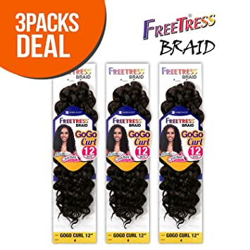 Amazoncom Freetress Synthetic Hair Crochet Braids Gogo Curl 12