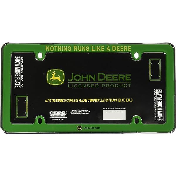 "Black 13.5/"" x 16.5/"" JOHN DEERE RUBBER MAT Utility//Floor Green//Yellow Deer NEW"