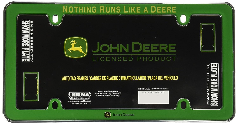 Amazon chroma 42518 john deere nothing runs like a deere amazon chroma 42518 john deere nothing runs like a deere green plastic frame automotive jeuxipadfo Images